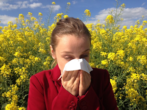 Sneezing with hayfever